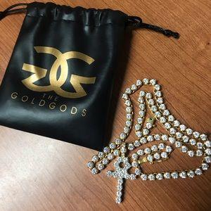Diamond Ankh with Tennis Chain